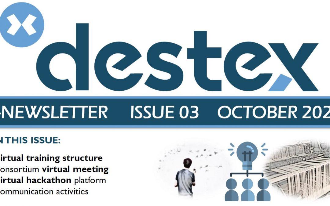 Third DESTEX newsletter available!